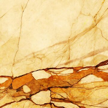 MARBLED ABSTRACT BEIGE ORANGE by aCVPia