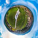 Spherical panoramic view like a planet of Obernai, Alsace, France by Alexander Sorokopud