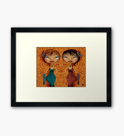 Girls Night Out Framed Print