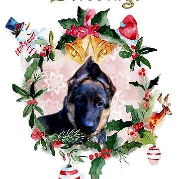 Doggy time Xmas by ceciliamart