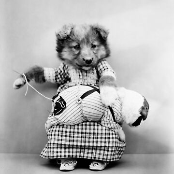 Cute Puppy Sewing Pants - Harry Whittier Frees by warishellstore