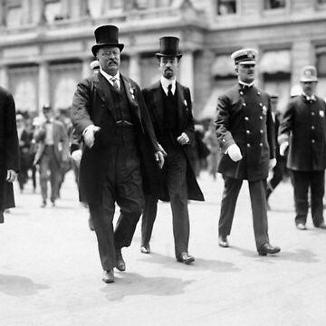 Teddy Roosevelt, Mayor Gaynor, Cornelius Vanderbilt - NYC - 1910 by warishellstore