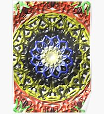 Colorful decorative pattern Poster