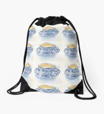 Japanese Teacup Drawstring Bag