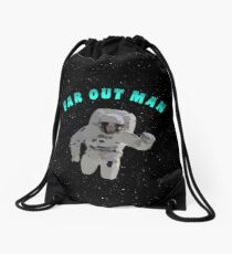 Far Out Man Drawstring Bag