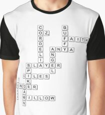 Buffy Scrabble Tiles Graphic T-Shirt