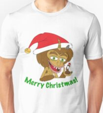 Merry Christmas Hormone Monster - Big Mouth Slim Fit T-Shirt