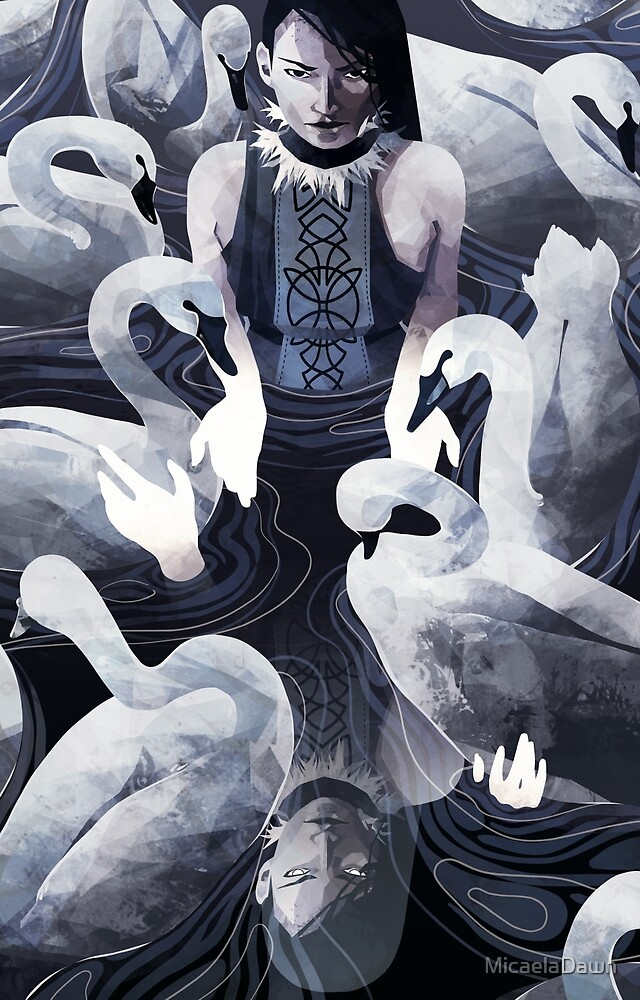 The Woman and the Swans  by MicaelaDawn