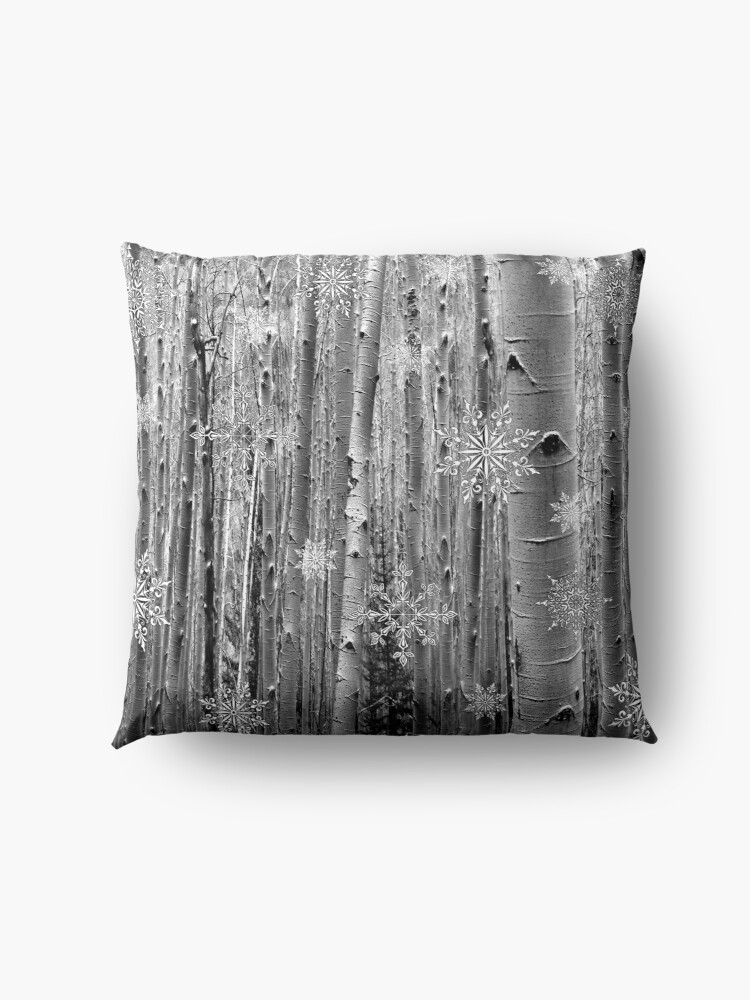 Alternate view of Aspens in the Snow Floor Pillow