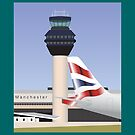 MANCHESTER AIRPORT - Control Tower by CRP-C2M-SEM