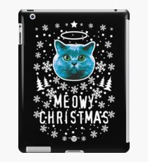40 cat Holy Blue Cat MEOWY CHRISTMAS iPad Case/Skin