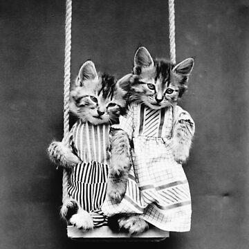 Cats On A Swing - Harry Whittier Frees by warishellstore