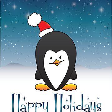 Happy Holidays Penguin by Kelly-Ferguson