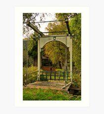 Wooden drawbridge 'The goose'  Art Print