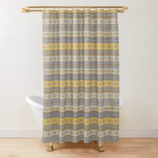 Granny's Fairisle- Yellow Shower Curtain