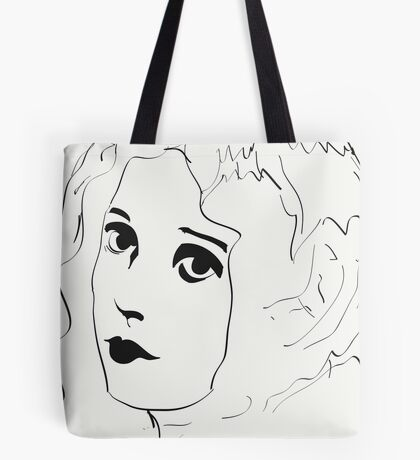 Silent Movie Actress Tote Bag