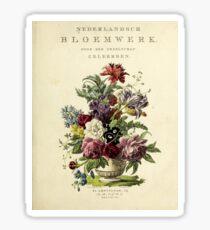 Nederlandsch bloemwerk (Dutch Flower Arrangements) from 1794 Sticker