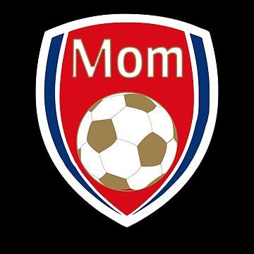 Arsenal Soccer Mom T-shirt by ravishdesigns
