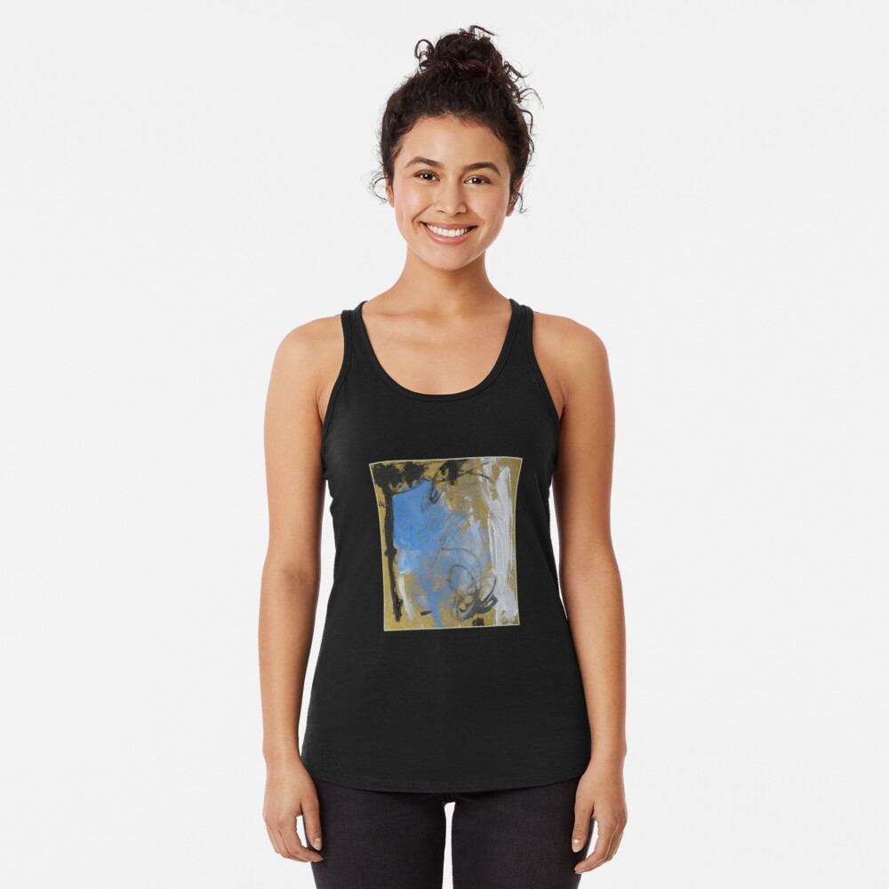 Abstract before Christmas Racerback Tank Top