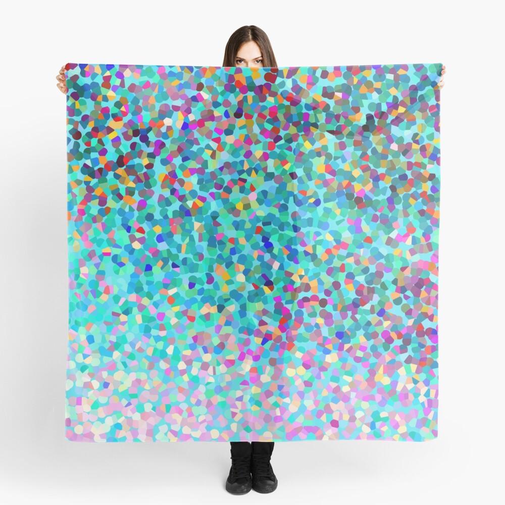 Aqua Blue Mehrfarbige Abstrakte Kunst Formt Muster Tuch