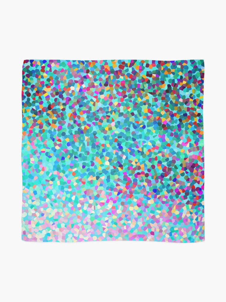 Alternative Ansicht von Aqua Blue Mehrfarbige Abstrakte Kunst Formt Muster Tuch