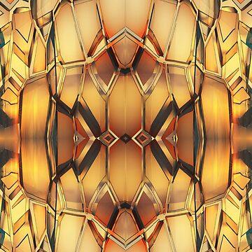 Golden Metal pattern by LoneAngel