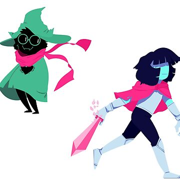 Kris and Ralsei separate by KenneDuck