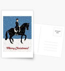 Snowy Dressage Horse Christmas Postcards