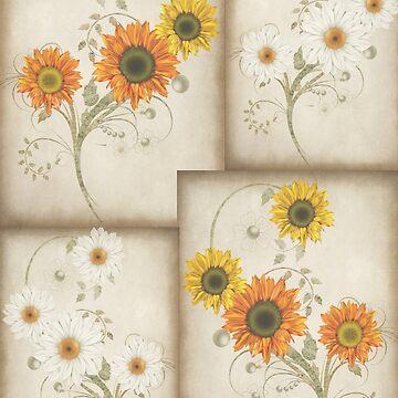 Sunflowers Pattern by LoneAngel