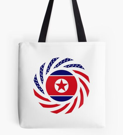 North Korean American Multinational Patriot Flag Series Tote Bag