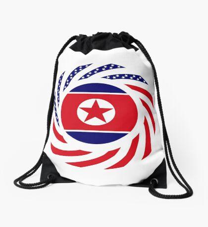 North Korean American Multinational Patriot Flag Series Drawstring Bag