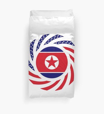 North Korean American Multinational Patriot Flag Series Duvet Cover