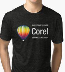 Corel dark Tri-blend T-Shirt