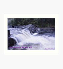 Waterfall . Trondelag . Norway . by Brown Sugar with WOOOOOws !!! thanks !!!  View (248) favorited by (1) thx ! OK! Art Print