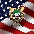 Command and Control Central - MACV-SOG CCC Patch over American Flag by Serge Averbukh