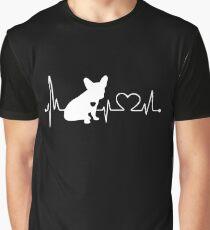 Heartbeat French Bulldog Graphic T-Shirt