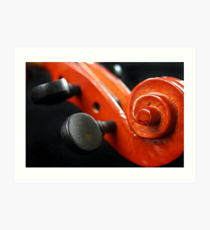 Violin Pegs Art Print