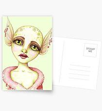 Goblin Girl Wishes Postcards