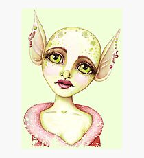 Goblin Girl Wishes Photographic Print