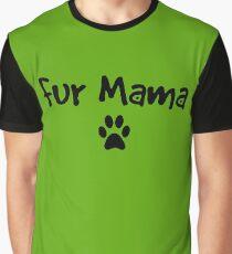 Fur Mama Dark Small Paw Graphic T-Shirt
