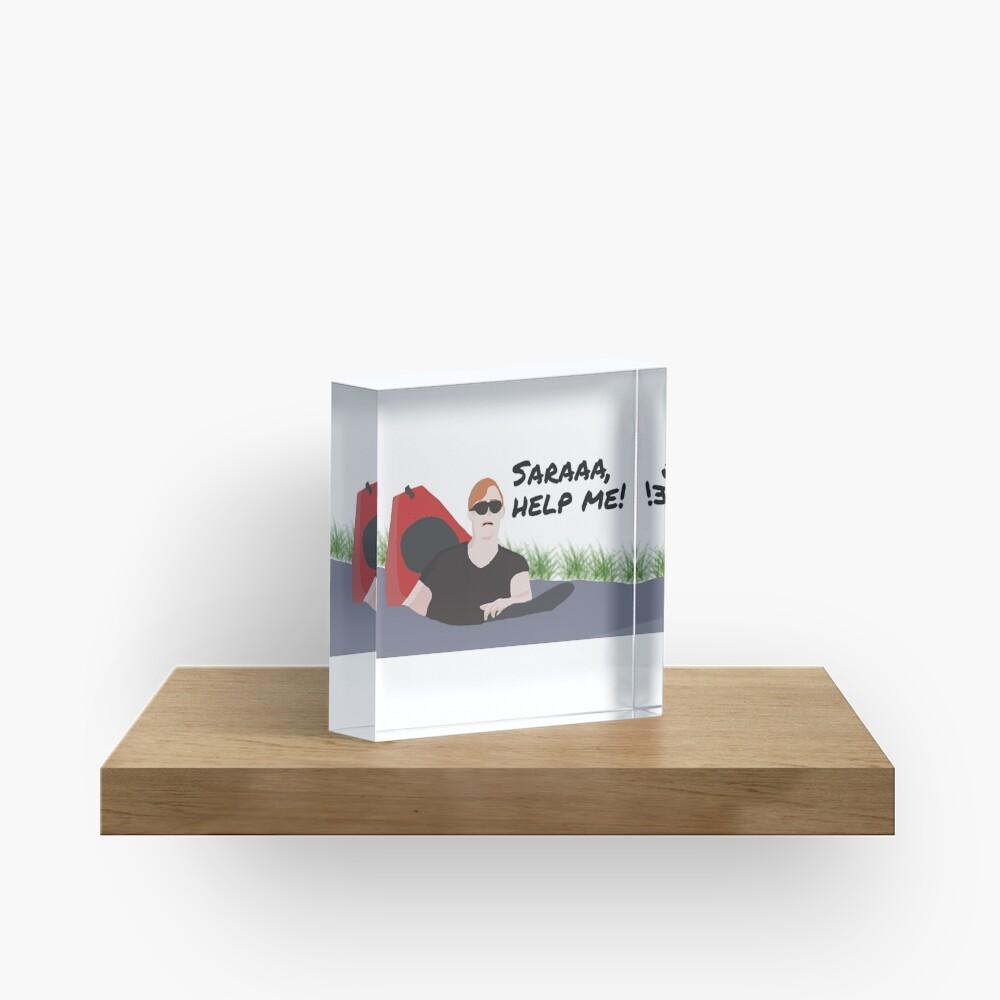 Saraaa, help me! Acrylic Block