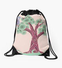An Owl and a Tree Drawstring Bag