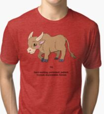 Chinese Zodiac--Year of the Ox Tri-blend T-Shirt