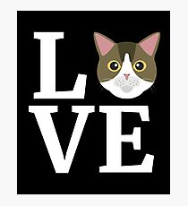 I Love My American Shorthair Cat T-Shirt Cat Lover Gift Tee Photographic Print