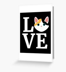 I Love My Japanese Bobtail Cat T-Shirt Cat Lover Gift Tee Greeting Card