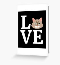 I Love My Maine Coon Cat T-Shirt Cute Cat Lover Gift Tee Greeting Card
