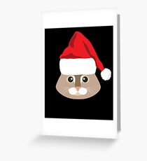 Maine Coon Cat Santa Hat T-Shirt Cat Lover Christmas Gift Greeting Card