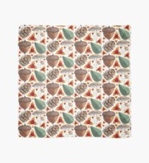 Woodland Yuletide Pattern in Snow White Scarf