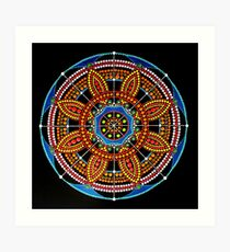 Mandala Dot Painting COLOR OF LIFE by Dutch Artist Tessa Smits Art Print