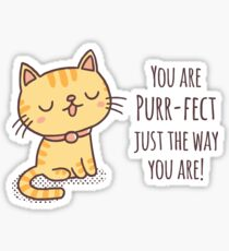 You Are Purrfect Just The Way You Are Sticker
